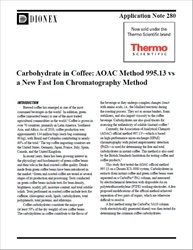 Application Note 280: Carbohydrate in Coffee