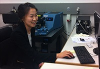 Experienced microsopist Dr Sunny Jeong from EPFL using the Anasys nano-IR