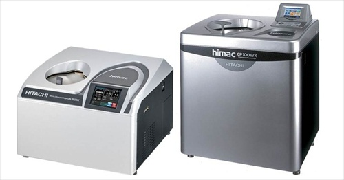 Hitachi centrifuges