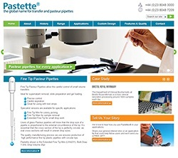 New Dedicated Pasteur Pipettes Website