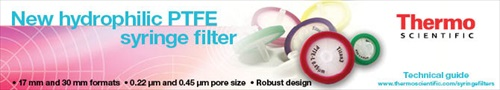 New hydrophilic PTFE syringe filter