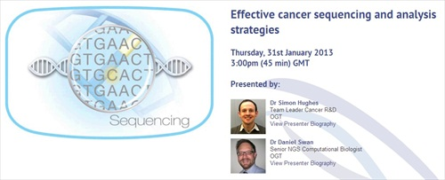 OGT to hold live webinar on NGS and data analysis strategies for cancer research