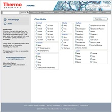 Thermo Online plate selector tool