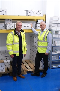Peter Lister, Operations Director with Andy Kingston, Warehouse Manager