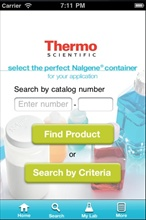Thermo Scientific Bottles and Carboys iPhone app.