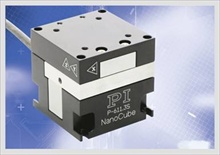 The P-611 NanoCube XYZ piezo stage from PI (Photo: PI)