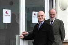 Cherwell MD, Andy Whittard, and company founder, Lawrence Whittard, look forward to expanded premises and another 40 years of company growth.