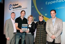 From left to right in photograph: Tom O'Meara (Fisher), Steve Dey (Eppendorf), Brigitte Koch (Eppendorf), Liselotte Schmidt (Eppendorf), Rob Morgan-Smith (Fisher)