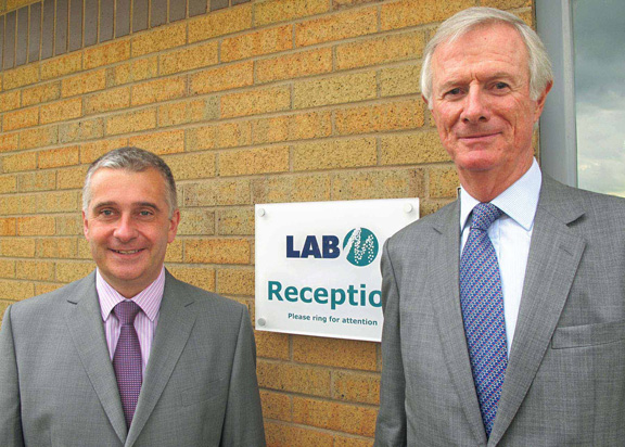 Lab M's  Managing Director Ian Morris (left) and Chairman Colin Goodwille (right)