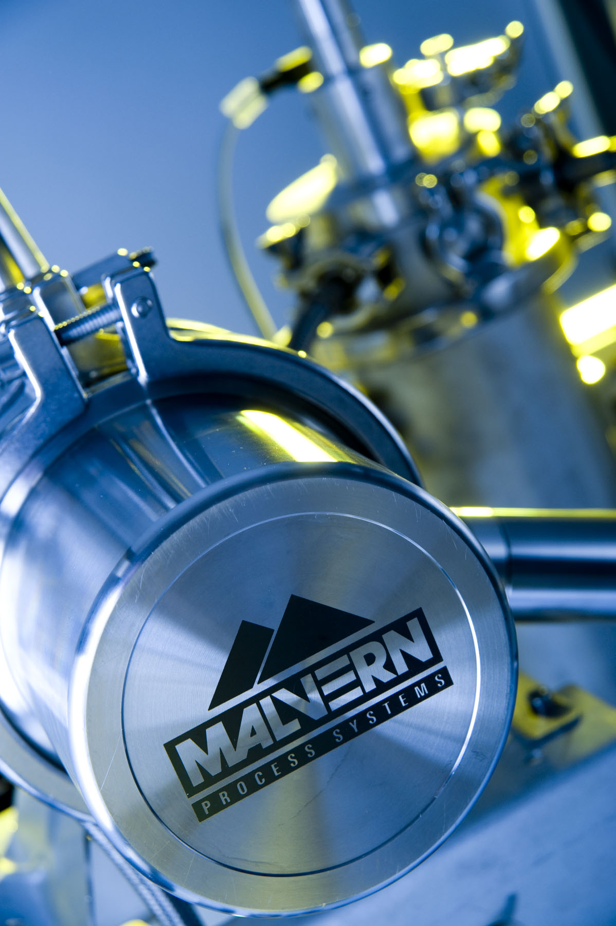Close up of the Malvern LPS online particle size analyzer