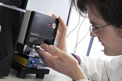 The NanoSight LM 20 system in use at Coriolis PharmaServices