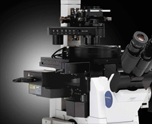 Olympus IX81 microscope with the new ZDC2 Z-Drift compensation