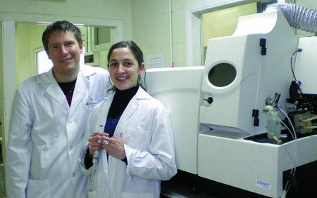 Lucía López Fernández and Daniel J. Kutscher, members of the Analytical Spectrometry Research Group at the University of Oviedo use Thermo Scientific ICP-MS for sulfur detection in proteins