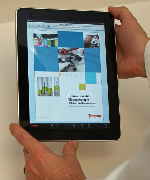 Thermo Fisher Scientific Releases iPad Accessible Chromatography Columns and Consumables Catalog
