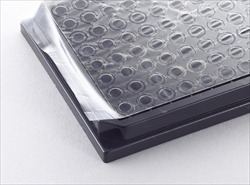 Porvair Sciences 500120 series gas permeable adhesive microplate seals.