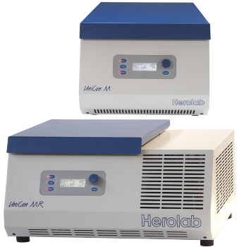 Blue Line centrifuges from Herolab
