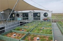 Renewable aggregates test centre for green roof growth aggregates