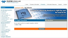 Web-based Selector Tool for Mercury Analyzers