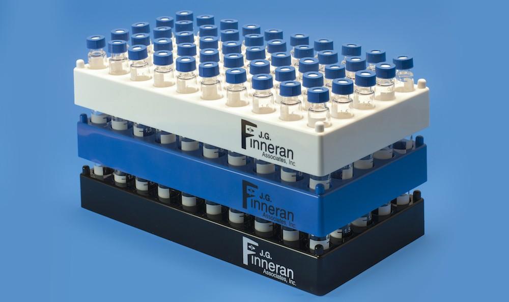 New stackable vial rack for 12x32mm vials from j g finneran for Jg finneran associates