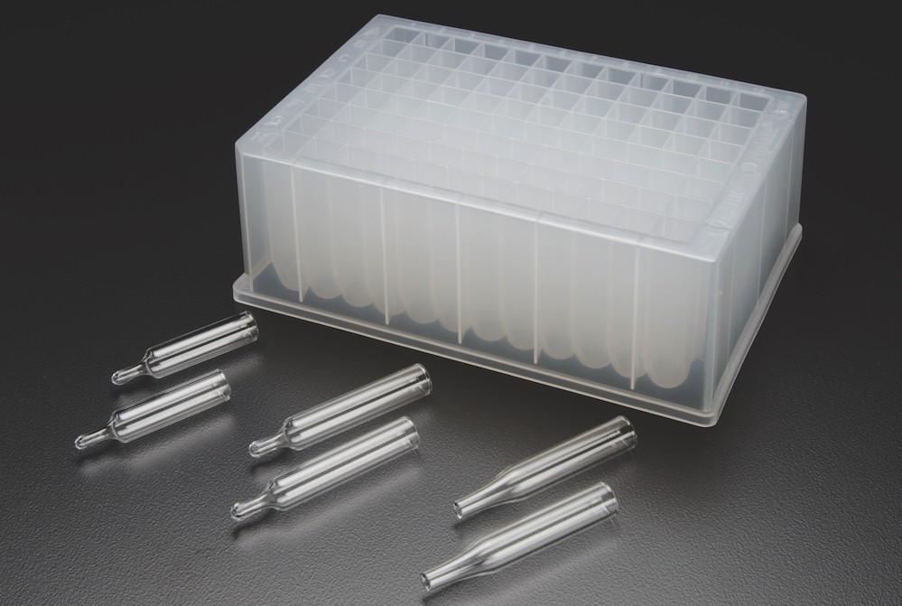 Finneran tapered glass inserts for standard 96 well for Jg finneran associates