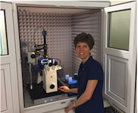 Dr Monica Schönenberger of the Swiss Nanoscience Institute with her JPK NanoWizard
