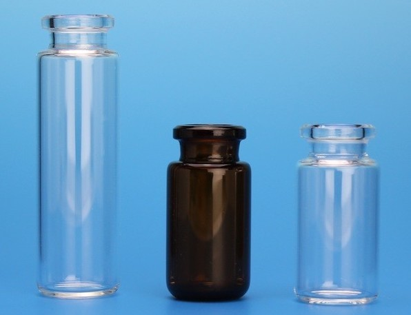 high strength rounded or flat-bottomed headspace vials